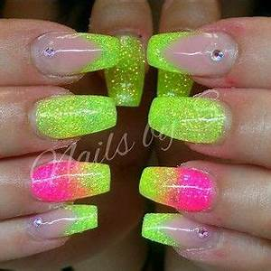 25 best ideas about Neon Yellow Nails on Pinterest