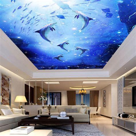 impressive ceiling mural designs  spice   room design swan
