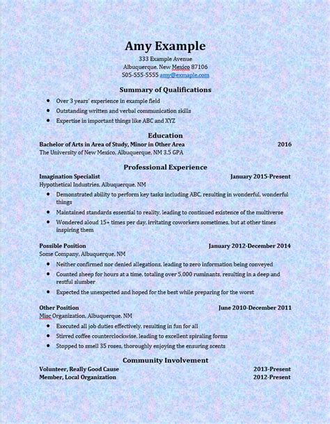 Resume Blob Contains A Bad Word by Resume Format Bad Resume Format Unm Career