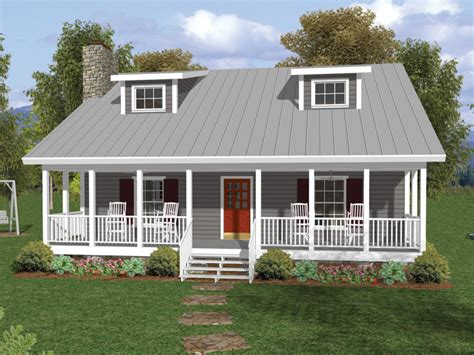Home Plans With Front Porch by One And A Half Story House Plans With Porches Number One