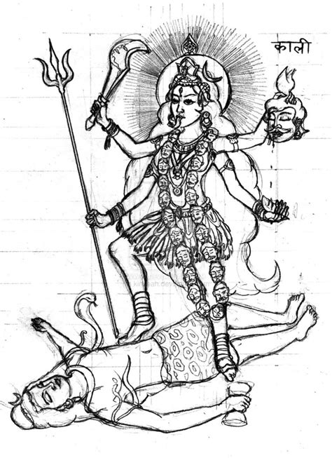 durga maa  coloring pages