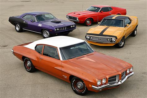 Four Of The Hottest Muscle Cars Of 1971