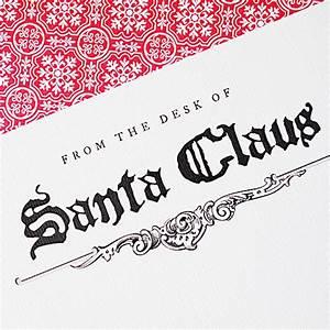 letter from santa stationery download With santa claus letter stationary
