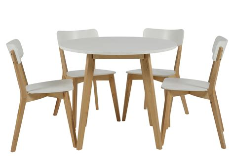 table ronde avec chaise table ronde 4 chaises smogue bois blanc style
