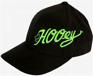 HOOey Scoreline logo Black and Neon Green Flex Fit Youth