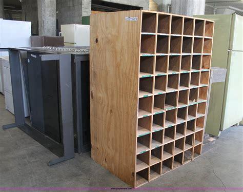 wood bolt bin compartment shelves item