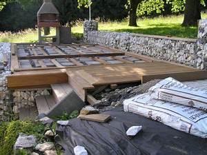 Pool Terrasse Selber Bauen : holzterrasse mit steinkoerbe k65 outdoor furniture ~ Orissabook.com Haus und Dekorationen