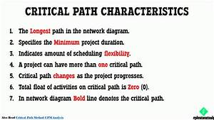 Schedule Network Analysis Methods For Critical Path
