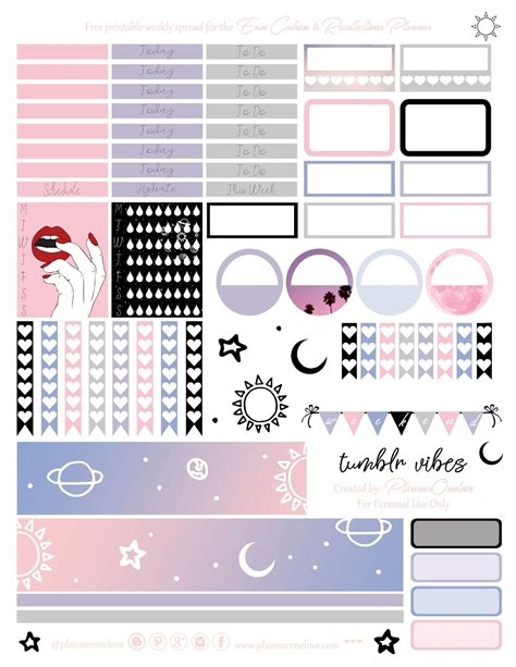 tumblr vibes printable planner stickers   erin