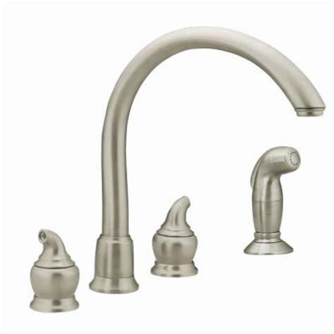 home depot moen kitchen faucets moen monticello 2 handle kitchen faucet in stainless steel