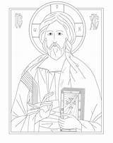 Coloring Icon Pages Byzantine Christ Catholic Orthodox Icons Church Disney Greek Teacher Colorings Docs Wixstatic Getdrawings Books sketch template