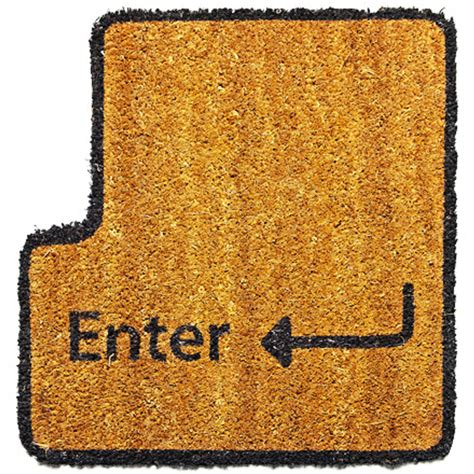 Enter Key Doormat by Enter Key Doormat Shut Up And Take My Credit Card