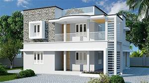 1565, Sq, Ft, Double, Floor, Contemporary, Home, Designs