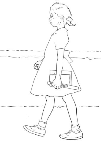 ruby bridges coloring page  printable coloring pages