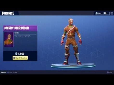 fortnite merry marauder outfit holiday themed character
