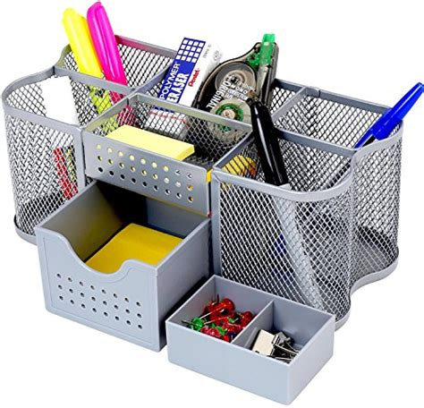 Decobros Desk Supplies Organizer Caddy, Silver Buy