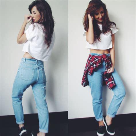 Natasha P - Topshop Crop Tee Topshop Mom Jeans Topshop Trainers Vans Shirt - Teen Spirit ...