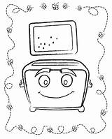 Toaster Template Coloring Pages Print sketch template