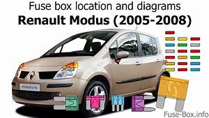 Fuse Box Location And Diagrams  Renault Modus  2005