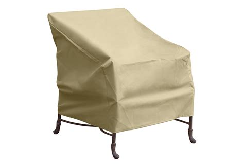 universal patio furniture covers deluxe universal outdoor chair cover sharper image