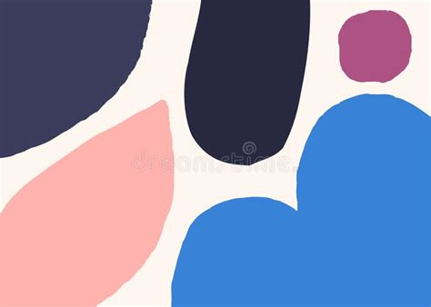 Design Modern Abstract Organic Shapes by Pastel Colors Abstract Shapes Modern Minimalist Wallpaper