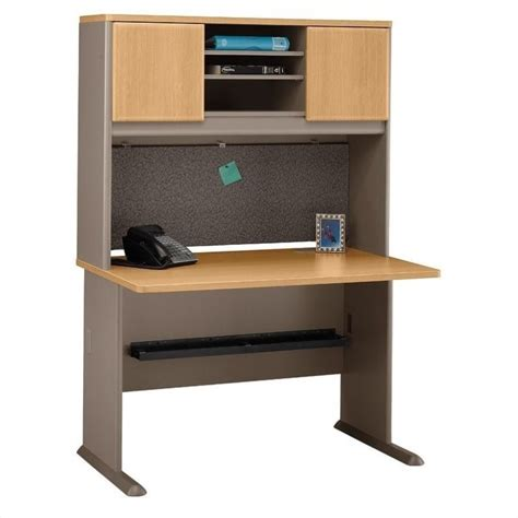 Cymax Desk With Hutch by Bush Business Series A 48 Quot Desk With Hutch Light Oak