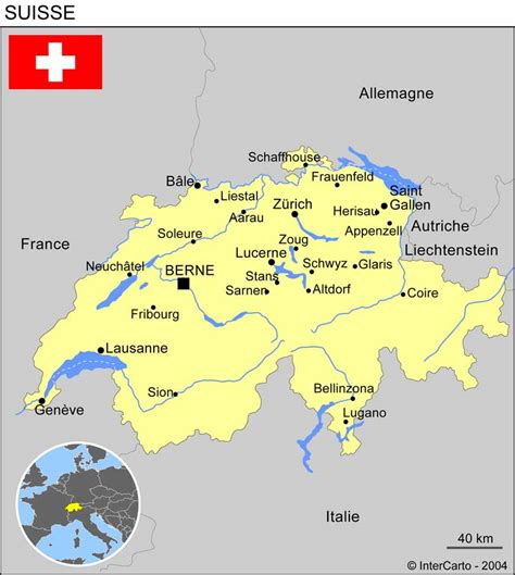 Carte Suisse by Carte De La Suisse Avec Les Villes