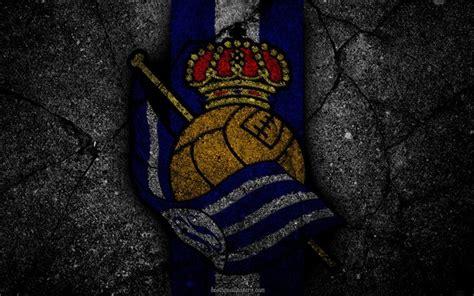 Download wallpapers Real Sociedad, logo, art, La Liga ...