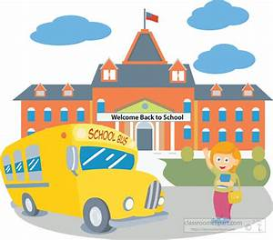 School Clipart - school-building-with-bus-student-back-to ...