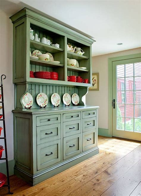 painted country kitchen cabinets accent painted country kitchen built in hutch country 3970