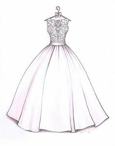 ball gown wedding dress sketch by catie stricker howell With wedding dress drawing