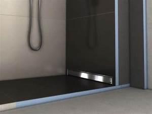 Receveur Salle De Bain : receveurs de douches a carreler wedi receveur de douche carreler avec coulement mural ~ Melissatoandfro.com Idées de Décoration