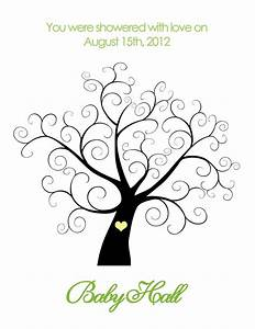 printable baby shower thumbprint tree personalized 14 With baby shower thumbprint tree template