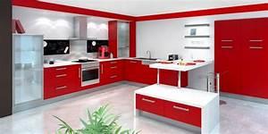 nice creer un bar dans une cuisine 1 cuisine rouge et With cuisine blanche et rouge