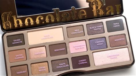 faced chocolate bar palette review youtube