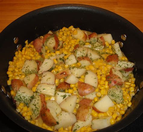 easy and dishes easy vegetable side dish recipe sweet corn and potato tasteforcooking