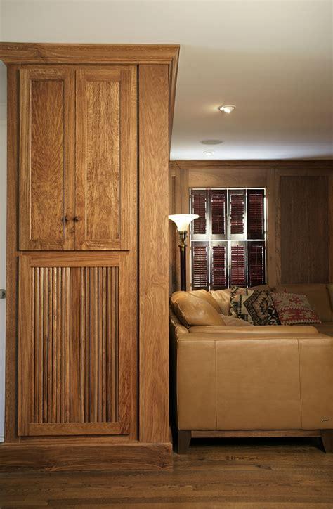 english brown oak paneled room