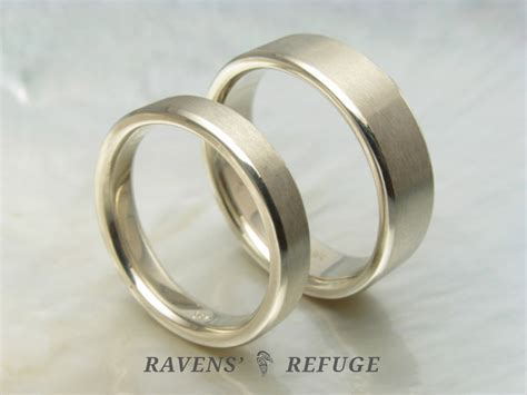 handmade white gold wedding bands simple wedding rings