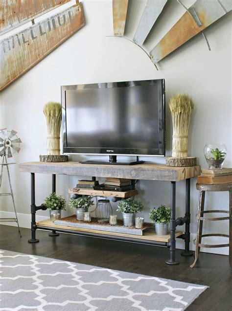 rustic tv console ideas