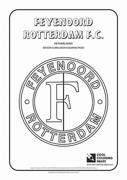 Coloring Pages Cool Logos Soccer Feyenoord Clubs