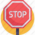 Stop Icon Sign Icons Premium Flat Signs