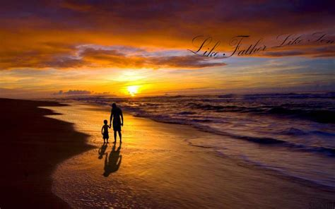 hd father son sunset wallpaper
