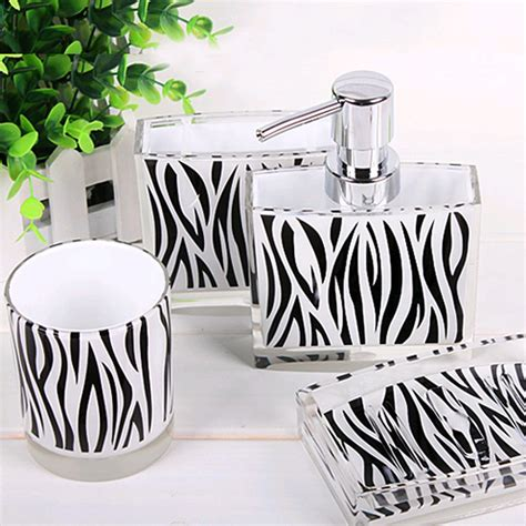 Zebra Print Bathroom Decor by Zebra Bathroom Set