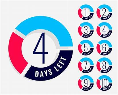 Countdown Days Left Number Timer Vector Showing