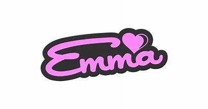 Emma Sign Sweet Vector Clipart Designed Vectors
