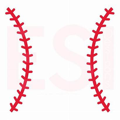 Softball Baseball Stitches Svg Clipart Silhouette Laces