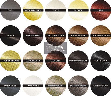 Hair Chart Colors by Hair Building Fibers Finally Hair Fibers
