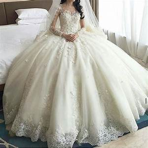 2016 abiti da sposa romantic ball gown china wedding for Long sleeve ball gown wedding dress