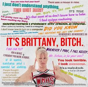Image - Brittan... Glee Rumors Quotes