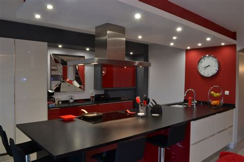 cuisine avenue laque blanc et noir pur cuisines cuisines